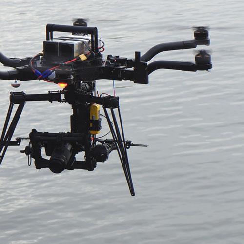 UAV Hafen Wasser Kaimauer