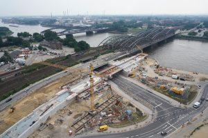 Luftbild Hamburg Baustelle U4