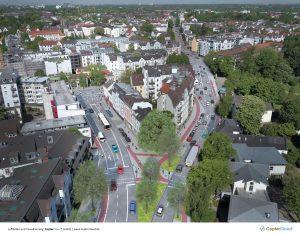 Luftbild und Visualisierung
