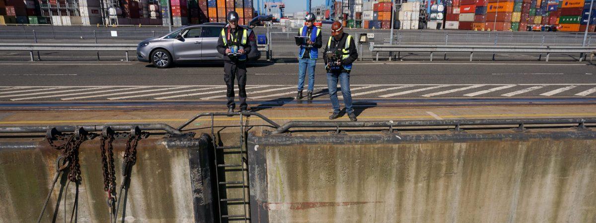 Inspektion im Hafen